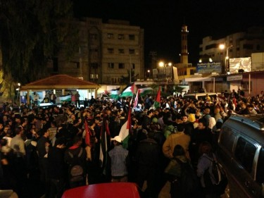 Egyptians outside Al Shifaa Hospital in Gaza today