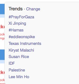 #PrayForGaza ..trending globally on Twitter