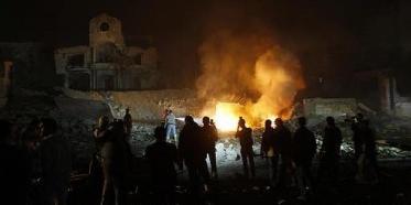 Gaza house burning