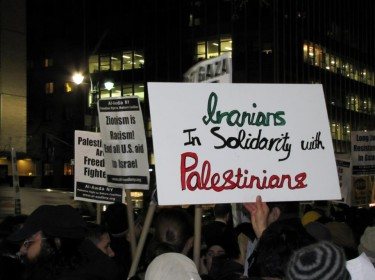 Iranians in solidarity with Palestinians