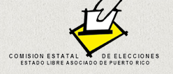 Logo of the State Elections Commission of Puerto Rico.