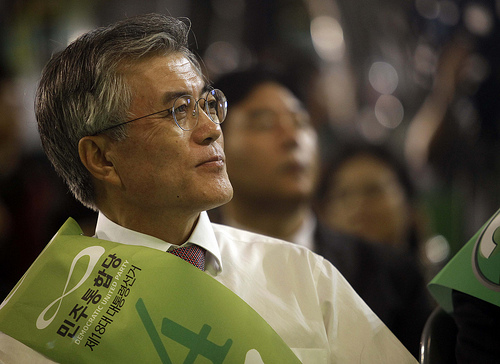 Moon Jae-In during campaign