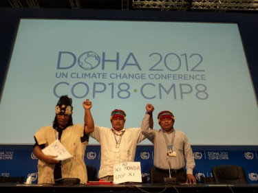 Protesting XI Oil Round at COP18