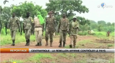 Screenshot from Al Qarra TV's  report on Rebels in CAR posted on Youtube