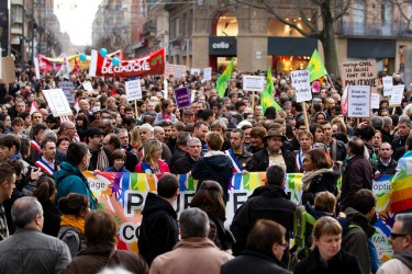 March for Mariage Rights for All in France by Pierre Selim on FlickR. License CC-BY-2.0