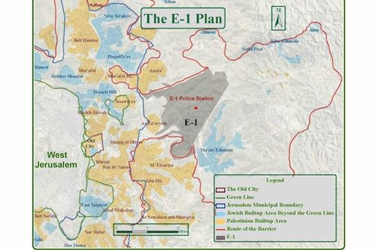 "The newly established #BabaAlshams village is located on the ""E1"" area east of Jerusalem"