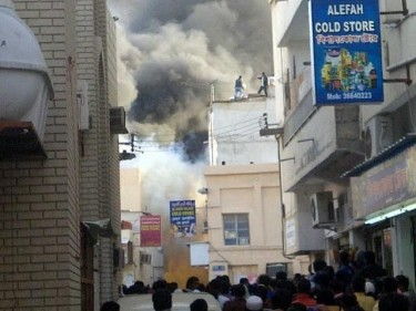 Fire in an expat workers house in Manama by @ManamaFebEN