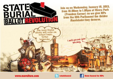 Poster for the #BallotRevolution: Uploaded by Twitter user @bonifacemwangi