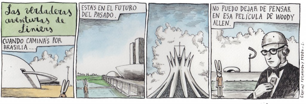 The real adventures of Liniers republished in the blog Raio Laser under a CC License -CC BY-NC-ND 3.0.