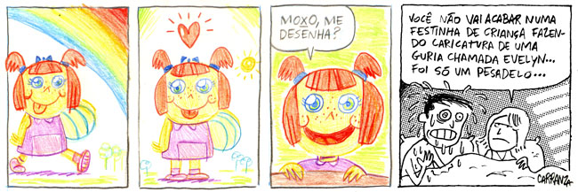 A comic strip by Pablo Carranza.