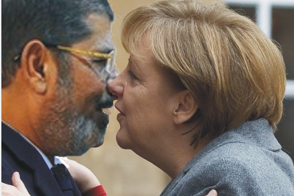 The Photoshopped picture of Morsi kissing Merkel that went viral