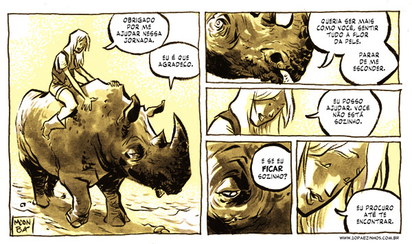 Quase Nada 191 [Almost Nothing 191]. Strip by Fábio Moon and Gabriel Bá, published on their blog [pt]. Used with permission.