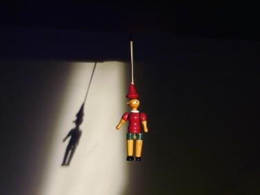 suspended Pinocchio