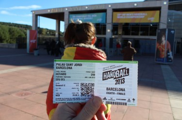 Ticket for 2013 World Men's Handball Championship for Barcelona, Spain