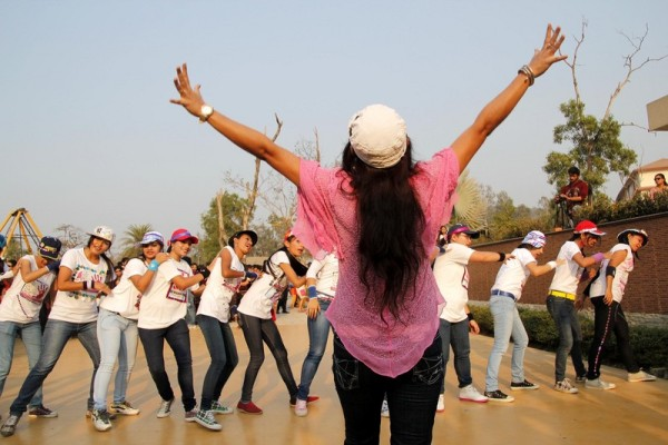 Women take part in the One Billion Rising Campaign at Guwahati Assam, India. Image by Reporter#21795 Copyright Demotix (14/2/2013)