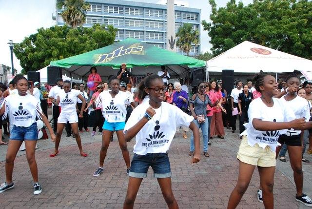 One Billion Rising, Heroes Square, Bridgetown, Barbados