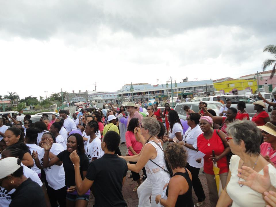 One Billion Rising, Heroes Square, Bridgetown, Barbados