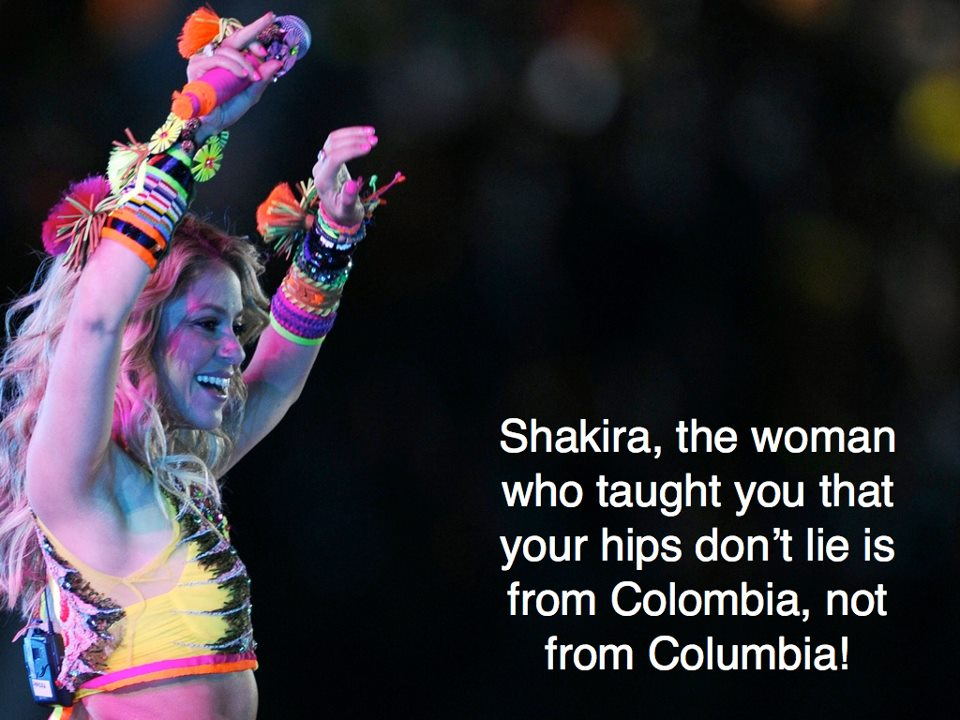 "Image shared by the ""It's Colombia, NOT Columbia"" Facebook page."