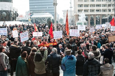 Anti-Fascist Protest in Skopje, Macedonia