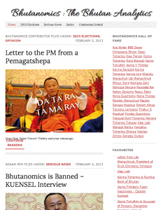 Screen shot of Bhutanomics.com