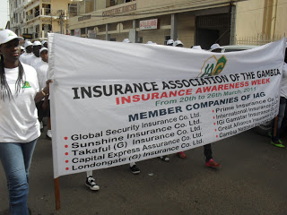 Image accompanying a post by Modou S. Joof about Gambia's insurance industry campaign to eradicate poor public image. Photo credit: Lamin Jahateh.