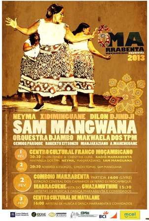 Marrabenta's Festival, 2013. Poster shared on afribuku.