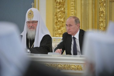 Vladimir Putin meets the participants of the Bishop's Council. 1 February 2103, Russian Presidential Service 3.0.