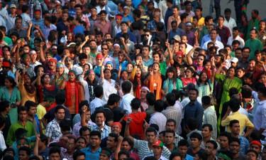 تظاهرات شاه باج في دكا، بنجلاديش