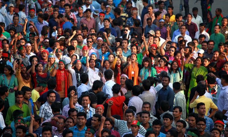 Shahbag protest in Dhaka, Bangladesh