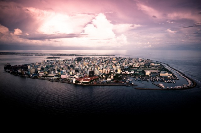 Capital of Maldives, Male. Image by hmed Shuau. Copyright Demotix (30/10/2009)