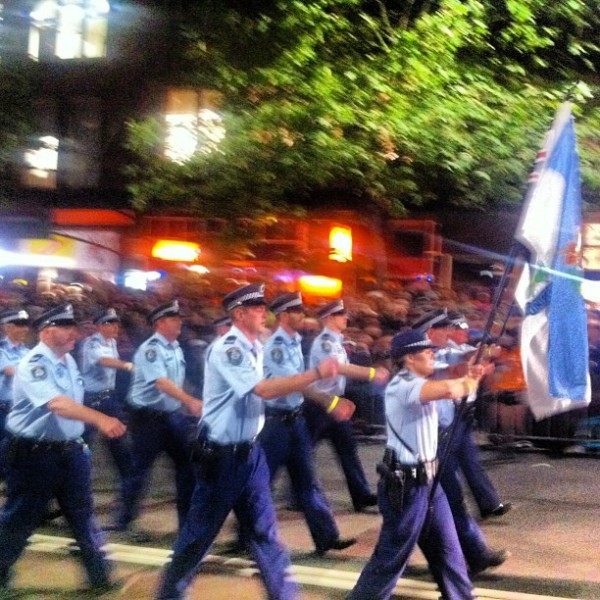 Sydney Mardi Gras police contingent 2013