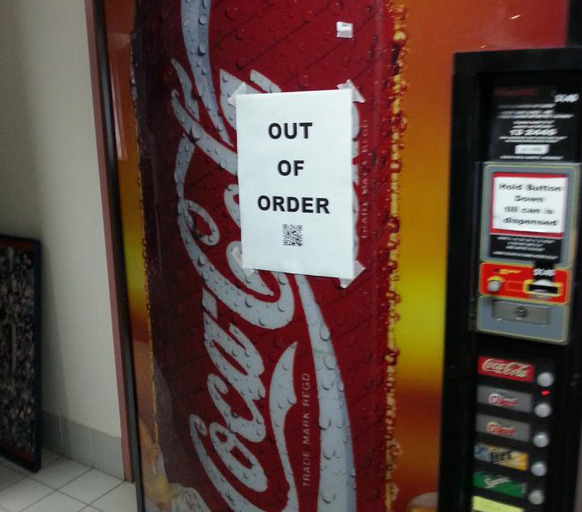 Out of Order Notice