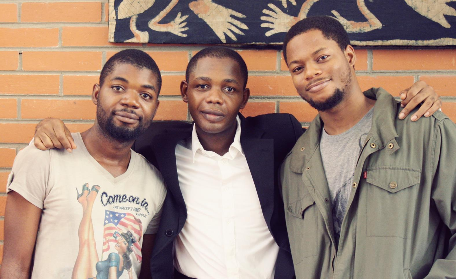 (Prowork team) L-R: Ope, Francis and Namzo
