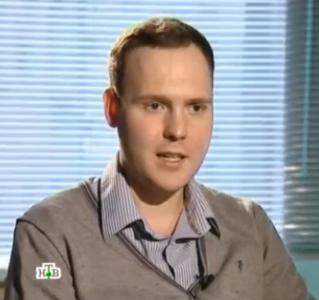 "Stanislav Apetian, aka Politrash, 6 March 2013, screen capture from NTV program ""The Browder List,"" YouTube."