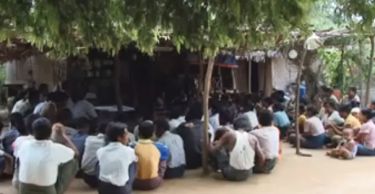 Screenshot of a video about rural development which went viral in Myanmar
