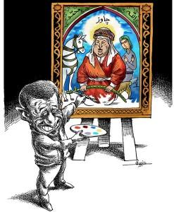Ahmadinejad presents Chavez as a Shi'ite Saint. Mana Neyestani in Roozonline