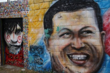 Venezuelan President Hugo Chávez ans his Bolivarian revolution are kept alive through street art in Mérida, Venezuela. Photo via Venezuelan Analysis, under Creative Commons license (CC BY-NC-ND 3.0 US)