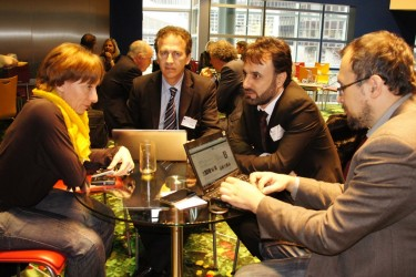 Umarali Quvvatov meeting with members of the European Parliament. (Image from Group 24's website, 2012).