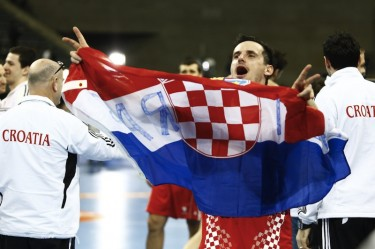 Croatia wins bronze medal at Handball World Championships. Photo by Pau Barrena, copyright © Demotix (26/01/13).
