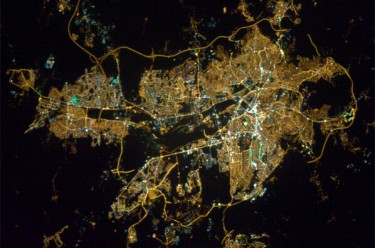 Ankara from space. Photograph by @comdr_hadfield