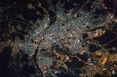 Cairo from Space. Photograph shared by @Cmdr_Hadfield on Twitter