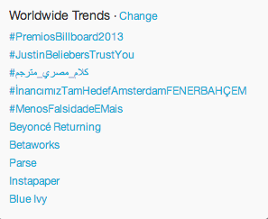 Arabic hash tags finally trending worldwide  on Twitter
