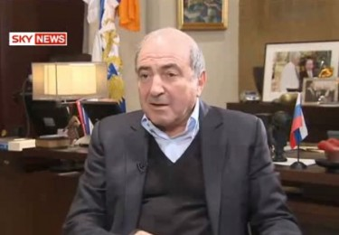 Berezovsky being interviewed by Sky News, in his better days. YouTube screenshot, April 4, 2013.