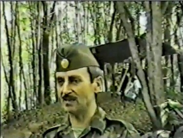 Dzhokhar Dudaev addressing his Chechen troops. YouTube screenshot. April 24, 2013.