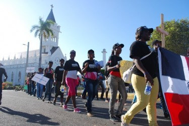 Dominican youth of Haitian ancestry protesting for their rights. Used with permission.