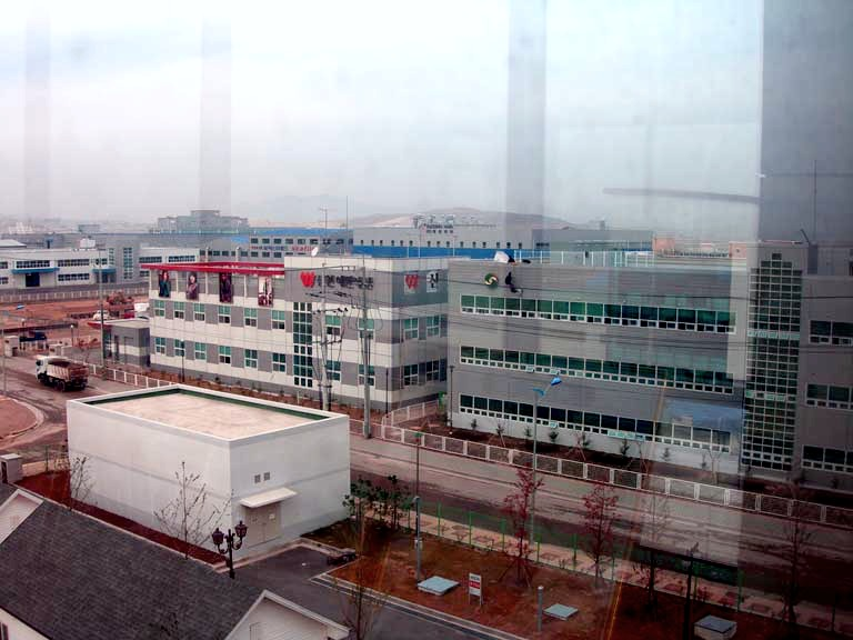 Model Industrial Complex (factories) in Kaesong Industrial Area, North Korea