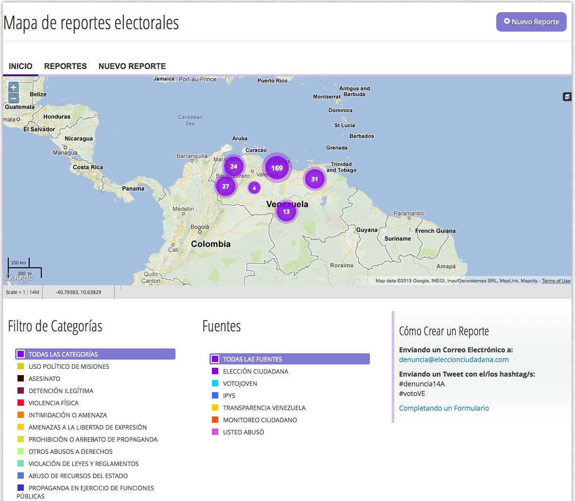 Elección ciudadana map