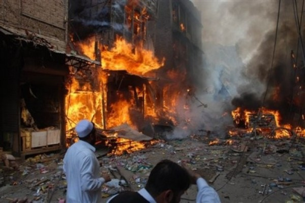 South Waziristan: Election office of candidate Abdul Khaliq blown up by militants. Image courtesy Pak Votes (11/4/2013)