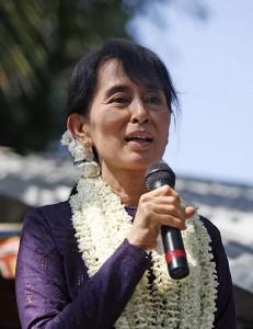 Aung San Suu Kyi, photo by Htoo Tay Zar, taken from Wikipedia