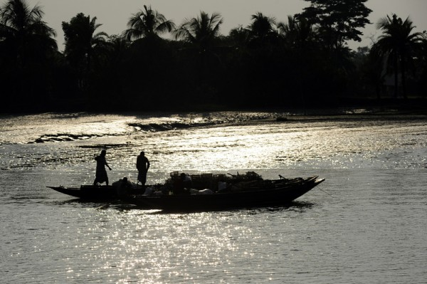 Fishermen get preparation for the fishing before sunset near Karamjal Wildlife Breeding Centre Centre under Chandpai range in East Sunderbans division. Image by Firoz Ahmed. Copyright Demotix (26/11/2012)